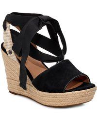9a0d7fc1cfe1 Lyst - UGG Ugg Joan Ii Platform Slide Sandal in Black