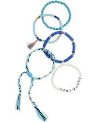 BP. Multi Bead Thread Bracelet - Blue