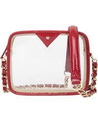 Kelly Wynne Clear Mingle Mingle Mini Crossbody Bag - Red