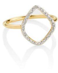 Monica Vinader | 'riva' Diamond Hoop Ring | Lyst