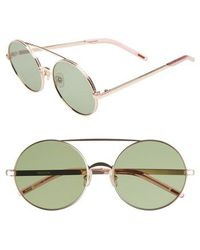 Wildfox - Ace 55mm Round Sunglasses - Lyst