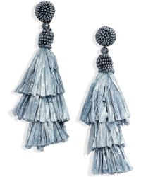 ba538796b5c021 Shourouk Swarovski Crystal Earrings in Blue - Lyst