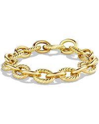 David Yurman 'oval' Large Link Bracelet In Gold - Metallic