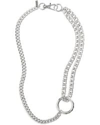 TOPSHOP - Chain Loop Necklace - Lyst