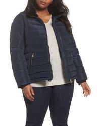 Dorothy Perkins Faux Fur Trim Hooded Puffer Jacket - Red