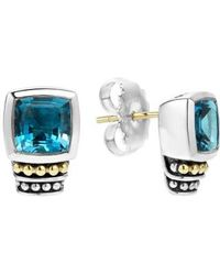 Lagos - 'caviar Color' Semiprecious Stone Stud Earrings - Lyst