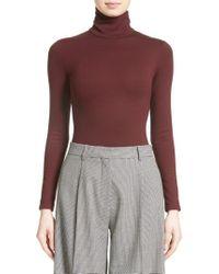 Victoria Beckham - Jersey Turtleneck Bodysuit - Lyst