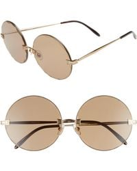 Wildfox - Starlight 62mm OverAntique Gold/ Brown Solid - Lyst