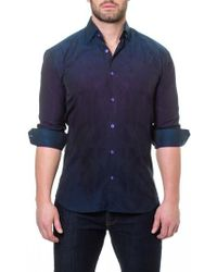 Maceoo - Wall Street Peacock Slim Fit Sport Shirt - Lyst