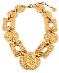 Ben-Amun - Hammered Round & Rectangle Statement Necklace - Lyst