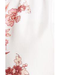 Zimmermann Wavelength Placement Printed Silk Shorts - Pink