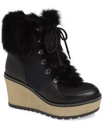 Rudsak - Torres Waterproof Genuine Rabbit Fur Trim Boot - Lyst