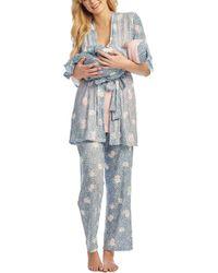 e7b022544e03a ASOS Maternity Nursing Placement Unicorn Pant Pyjama Set in Gray - Lyst