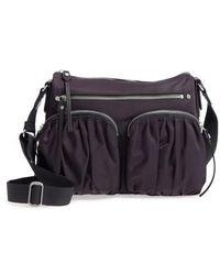 MZ Wallace | 'paige' Bedford Nylon Crossbody Bag - Purple | Lyst