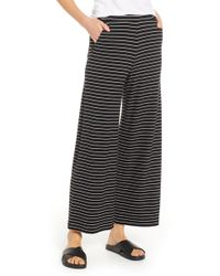 Lou & Grey - Stripe Wide Leg Sweatpants - Lyst