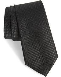 Calibrate Mathson Geometric Silk Tie - Black
