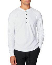 Good Man Brand - Legend Slub Long Sleeve Henley T-shirt - Lyst