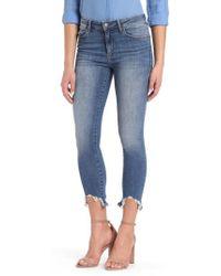 Mavi Jeans - Tess Ripped Skinny Crop Jeans - Lyst