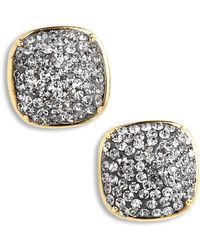 Kate Spade - Pave Small Square Stud Earrings - Lyst
