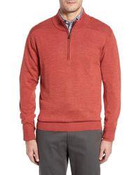 Cutter & Buck - Douglas Quarter Zip Wool Blend Sweater - Lyst