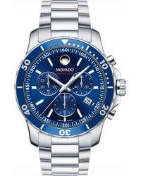 Movado 'series 800' Chronograph Bracelet Watch - Blue