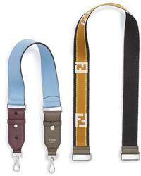 Fendi - Set Of 2 Strap You Mini Top Handle & Logo Crossbody Strap - Lyst