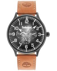 Timberland | Blanchard Multifunction Leather Strap Watch | Lyst
