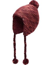 The North Face - Fuzzy Earflap Beanie - Purple - Lyst