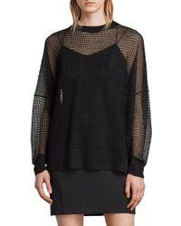 AllSaints - Rizo Openwork Sweater - Lyst