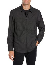 Calibrate - Grid Zip Shirt Jacket - Lyst