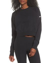 Nike | Long Sleeve Crop Training Top | Lyst