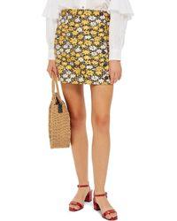 TOPSHOP - Daisy Jacquard Miniskirt - Lyst