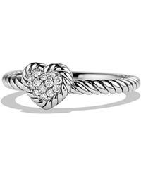 David Yurman - 'chatelaine' Heart Ring With Diamonds - Lyst