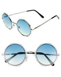 Circus by Sam Edelman - 50mm Round Sunglasses - Lyst