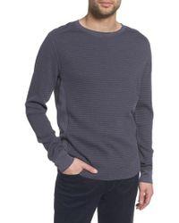 Vince - Regular Fit Waffle Knit Cotton Blend Crewneck T-shirt - Lyst