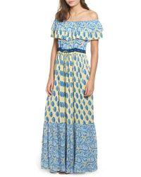 Raga - Sunlit Daze Off The Shoulder Maxi Dress - Lyst