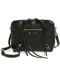 Balenciaga - Extra Small Classic Reporter Leather Shoulder Bag - Lyst