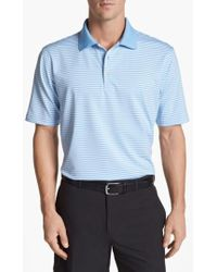 Peter Millar - 'competition' Stripe Stretch Microfiber Golf Polo - Lyst