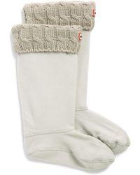 HUNTER - Original Tall Cable Knit Cuff Welly Boot Socks - Lyst