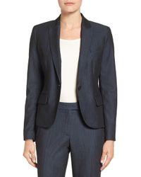 Anne Klein - Twill One-button Jacket - Lyst