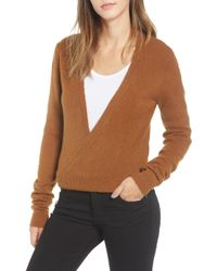 RVCA - The Fuz Wrap Sweater - Lyst