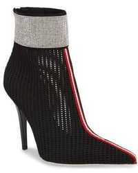 Jeffrey Campbell - 2nd Base Embellished Knit Bootie - Lyst