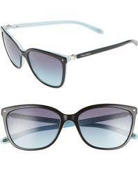 Tiffany & Co. - 55mm Mirrored Square Sunglasses - Lyst