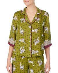 Room Service Pajama Top - Green