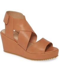 Eileen Fisher Whimsy Platform Wedge Sandal - Brown