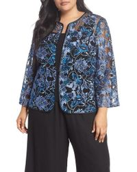 Alex Evenings - Floral Embroidered Twinset - Lyst