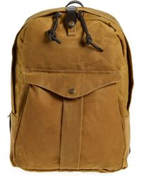 Filson 'journeyman' Coated Canvas Backpack - Brown