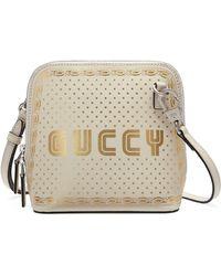 6b2c133e15fa7e Basic GG Supreme Canvas Diaper Bag. $1,390. Bergdorf Goodman · Gucci -  Guccy Logo Moon & Stars Leather Crossbody Bag - Lyst