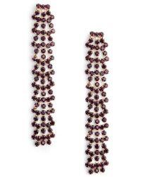 Serefina - Crystal Drop Earrings - Lyst