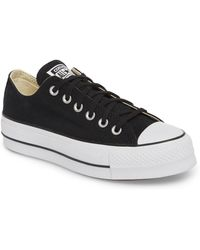 Converse - Women Chuck Taylor All Star Lift Platform Shoes, Black - Lyst